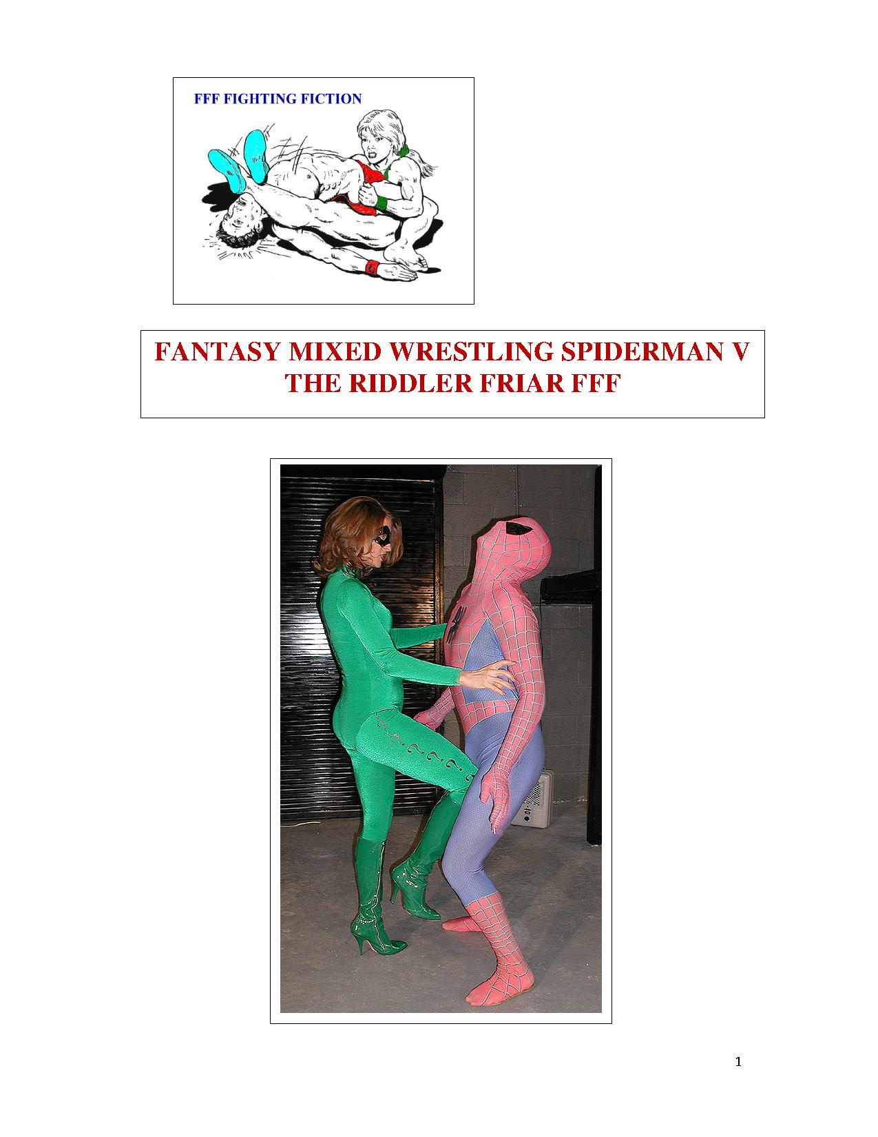Fantasy_Mixed_Wrestling_Spiderman_v_The_Riddler_cvr_1